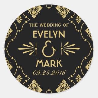 Wedding Monogram Stickers | Art Deco