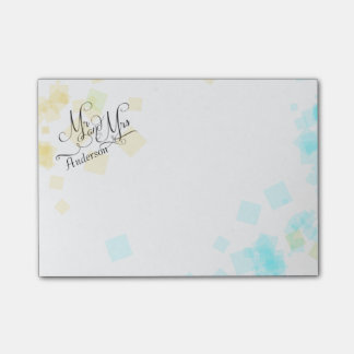 WEDDING -Mr and Mrs | Pastel Beach Colors Confetti Post-it® Notes