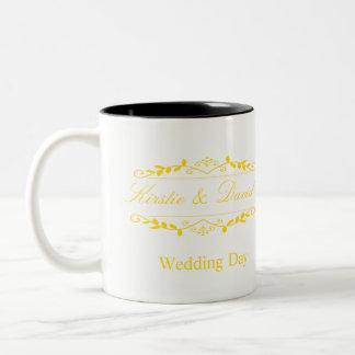 Wedding Mug with ornate graphics