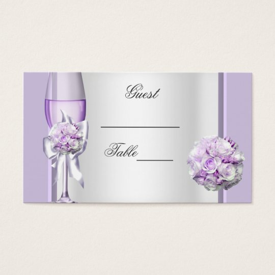 Wedding Name Place Lavender Purple Lilac 3 Business