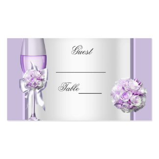 Wedding Name Place Lavender Purple Lilac 3 Pack Of Standard Business Cards