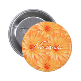 Wedding name tags - customizable orange lilly pin