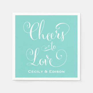 Wedding Napkins | Cheers to Love Design Disposable Napkins