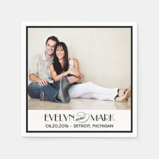 Wedding Napkins | Custom Photo and Monogram Paper Napkins