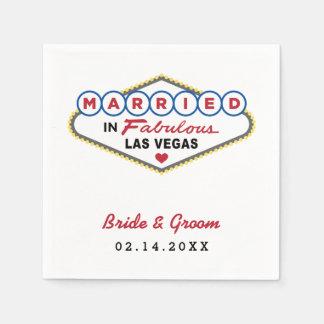Wedding Napkins | Married in Las Vegas Disposable Serviette