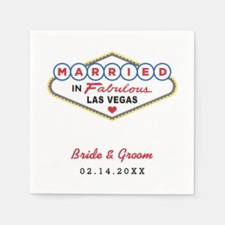 Wedding Napkins | Married in Las Vegas Paper Napkin
