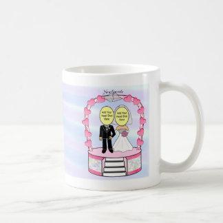 Wedding Newlyweds Cake Topper Add-A-Head Shot ™ Mug