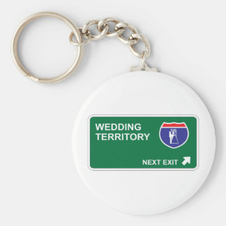 Wedding Next Exit Basic Round Button Key Ring