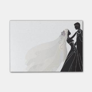 Wedding Notes W/ Bride & Groom 1 - Post-it Notes