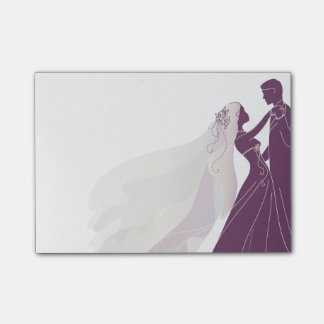 Wedding Notes W/ Bride & Groom 3 - Notes Post-it® Notes