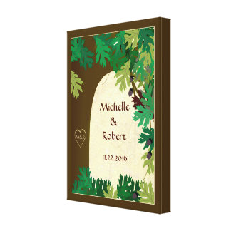 Wedding Oak Tree Custom Wrapped Canvas Canvas Prints