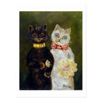 Wedding of Cat, Louis Wain Postcard