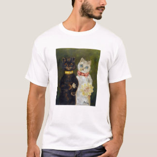 Wedding of Cat, Louis Wain T-Shirt