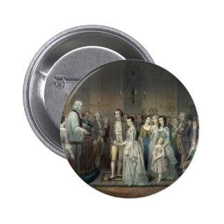 Wedding of George Washington button