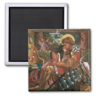 Wedding of St George, Princess Sabra by Rossetti Square Magnet