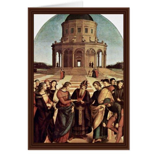 Wedding Of The Virgin By Raffael (Best Quality) Card