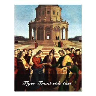 Wedding Of The Virgin By Raffael Custom Flyer