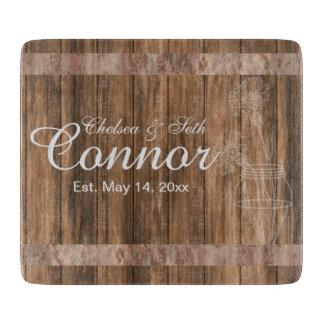 Wedding or Anniversary Barn Wood Mason Jar Cutting Board