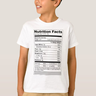 Wedding or Anniversary Sweet Funny Nutrition Label T-Shirt