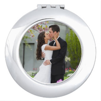Wedding or couple photo template compact mirror