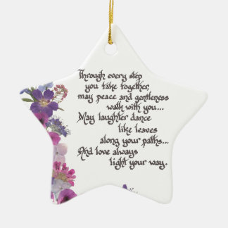 Wedding or Engagement Gift Christmas Ornament