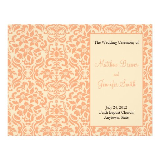 Wedding Order of Service and Ceremony Program Flyer Design