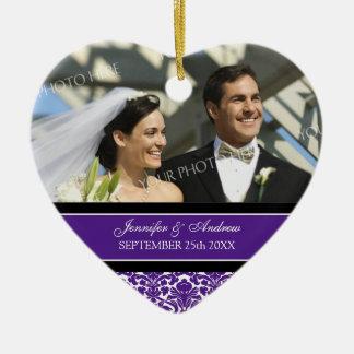 Wedding Ornament Favor Plum Black Damask