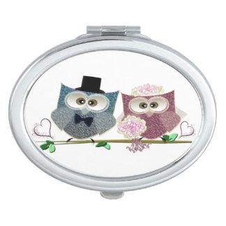 Wedding Owls Compact Mirror Favor