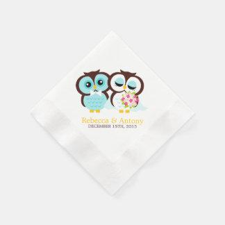 Wedding Owls Paper Napkins
