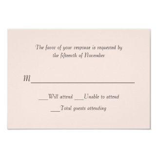 Wedding Pale Blush Response Card