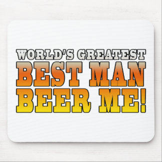 Wedding Parties Favors : Worlds Greatest Best Man Mousepad