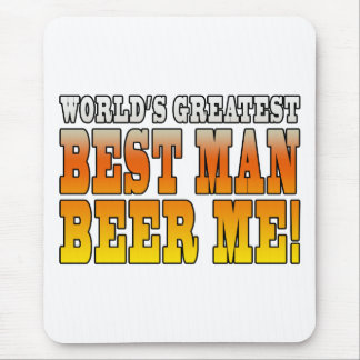 Wedding Parties Favors : Worlds Greatest Best Man Mouse Pad