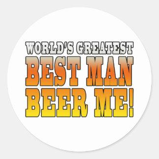 Wedding Parties Favors Worlds Greatest Best Man Round Sticker