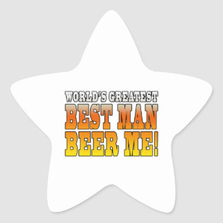 Wedding Parties Favors : Worlds Greatest Best Man Star Stickers
