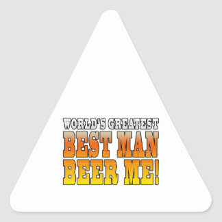Wedding Parties Favors : Worlds Greatest Best Man Triangle Stickers