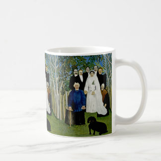 Wedding Party and a Prominent Dog -  by Rousseau Basic White Mug