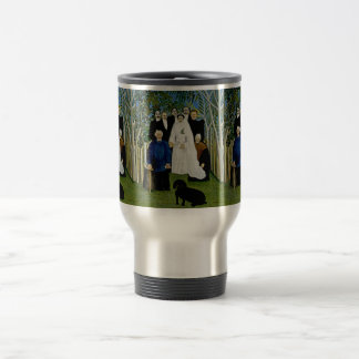 Wedding Party and a Prominent Dog -  by Rousseau Stainless Steel Travel Mug
