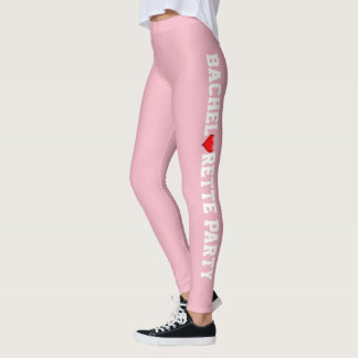 Wedding Party | Bride Heart Pink Bachelorette Leggings