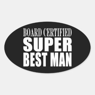 Wedding Party Favor Board Certified Super Best Man Stickers