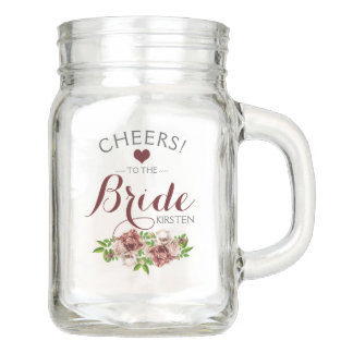 Wedding Party | For the Bride Personalized Mason Jar
