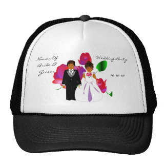 """Wedding Party"" Hat - Customizable Mesh Hats"