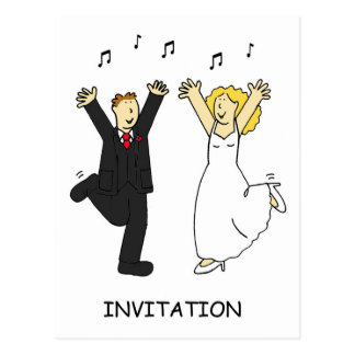 Wedding party Invitaion. Postcard