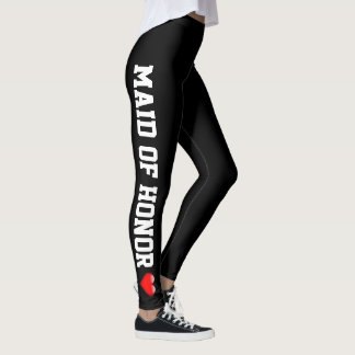 Wedding Party | Maid of Honor Heart Bachelorette Leggings