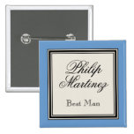 Wedding Party Name Tags - Best Man 15 Cm Square Badge