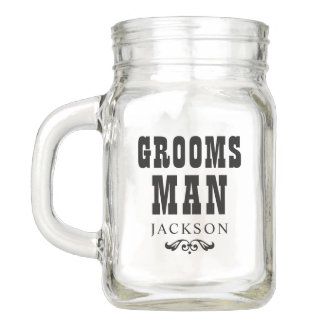 Wedding Party | Rustic Groosman Mason Jar