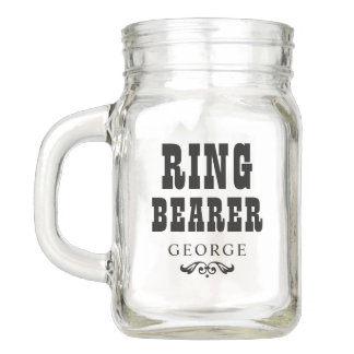 Wedding Party | Rustic Ring Bearer Mason Jar