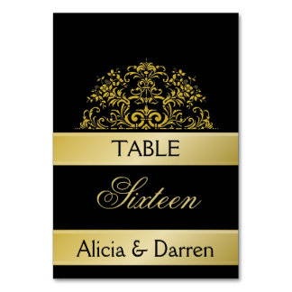 Wedding/ Party Table Number Table Card