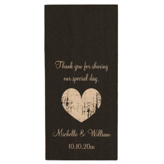 Wedding party thank you favor USB flash drives Wood USB 2.0 Flash Drive