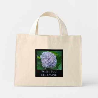 Wedding Party Tote Bag gift BRIDESMAID Hydrangea