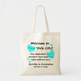 Wedding Party Welcome Bags Customize Mint Hearts